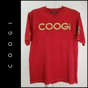 Coogi Men Short Sleeve Spell Out Graphic T-Shirt
